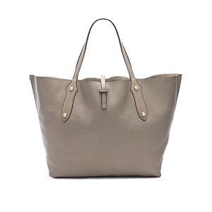 Annabel Ingall Isabella tan gold leather tote bag